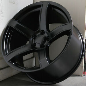 20x9 5 20x10 5 Black Wheels Vors Dg09 Fit Dodge Charger Challenger 5x115 15 22