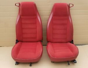 82 92 Chevy Camaro Firebird 54k Red Cloth Seats Complete Front Rear Excellent