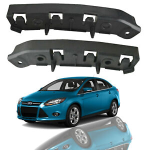 For 2012 2018 Ford Focus Front Bumper Support Retainer Brackets Pair Left Right