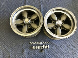 Vintage Pair Of American Racing Daisy Wheels 14x7 Chevy 5 On 4 3 4 4 1 2 Ford