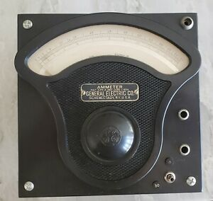 General Electric Ge Type P3 Working Alternating Current Ammeter