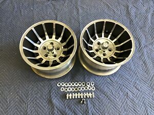 2 Polished 15x8 1 2 Hurricane Vector Style Wheel Chevy Ford 4 1 2 4 3 4 5on5