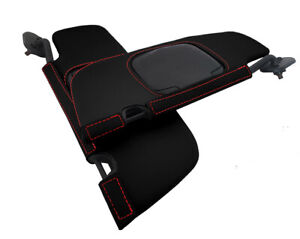 Sunvisors Cover Leather For Ford Mustang Convertible 1994 2004 Red Stitch