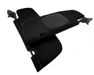 Sunvisors Cover Leather For Ford Mustang Convertible 1994 2004 Black