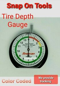Snap On Tools Dial Type Tire Tread Depth Gauge For Cars Bikes Truck New Tdg2