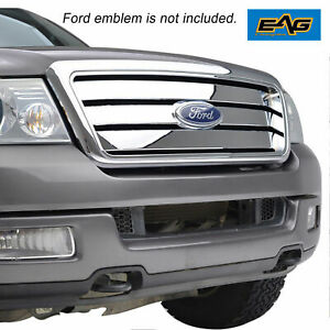 Eag Replacement Grille Chrome Grill W Shell Full Upper For 04 08 Ford F150