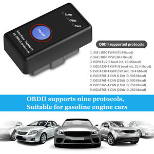 Advanced Bluetooth Obd2 Car Scanner Code Reader Android Iphone Diagnostic Tool
