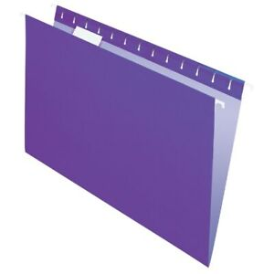 Office Depot Brand 2 tone Hanging File Folders 1 5 Cut Legal Size Purple 25pk
