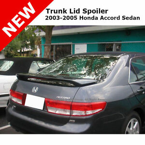 Honda Accord 4d 03 05 Abs Trunk Rear Wing Spoiler Unpainted Gray Abs