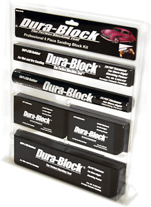New 6 piece Sanding Block Set Car Auto Body Work Sander Black