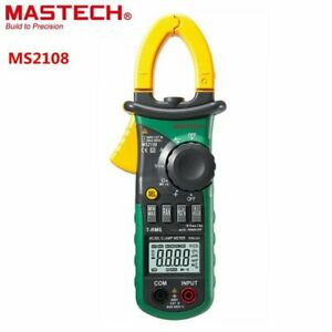 Mastech Ms2108 Digital Ac dc Clamp Meter Multimeter Lcd Display Voltage Meter