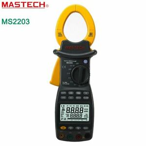 Mastech Ms2203 Three Phase Intelligent Digital Power Clamp Meter Support Rs232
