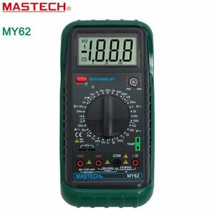 Mastech My62 Digital Multimeter Dmm Temperature Capacitance Hfe Testers Meters