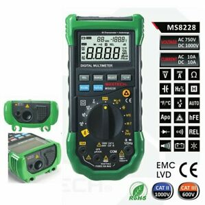 Mastech Ms8228 Multimeter Non contact Ir Thermometer Relative Humidity Tester
