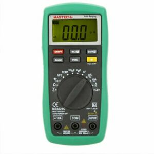 Mastech Ms8221c Digital Multimeter Dmm Hfe Capacitance Temperature Meter