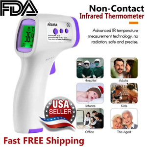 Fda Infrared Forehead Thermometer Non contact Lcd Laser Ir Free Gift
