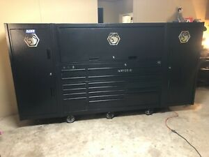 Matco 4s 3 Bay 25 Powered Tool Chest Box With Hutch And Two Side Boxes 4325rp