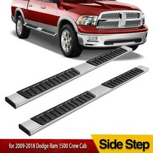 6 Running Boards For 09 18 Dodge Ram 1500 Crew Cab Steel Nerf Bars Side Steps
