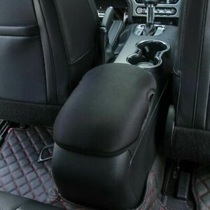 Neoprene Center Console Armrest Pad Cover Fit For Ford Mustang 2015 2019 Black