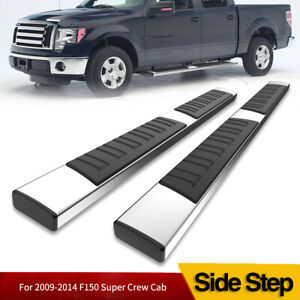 6 Running Boards For 09 14 Ford F 150 Super Crew Cab Steel Nerf Bars Side Steps