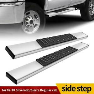6 Running Board For 07 19 Chevy Silverado sierra Regular Cab Nerf Bar Side Step