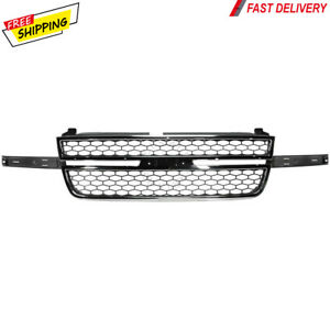 New For Chevy Silverado Pickup Truck Fits 2005 2007 Front Grille Chrome Gray