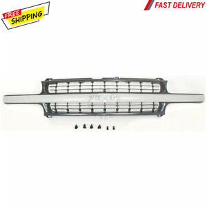 New For Chevrolet Silverado 1500 2500 Front Grille Gray Black Fits 1999 2006