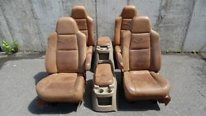 2003 2007 Ford F250 Super Duty King Ranch Leather Front Bucket Rear Seats Oem
