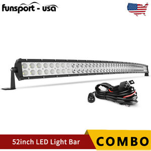 Curved 52inch 700w Led Light Bar Flood Spot Combo Driving Truck Rzr Suv 4wd 54