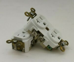 Hubbell Hbl5362w White Straight Blade Duplex Receptacle box Of 6