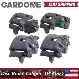 Front Rear Kit Brake Calipers With Bracket For 1994 2001 Acura Integra Cardone