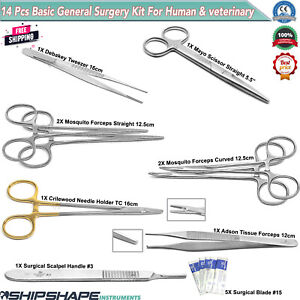 Veterinary General Surgery Instruments Stitch Up Ovaries Removal Surgical Kit