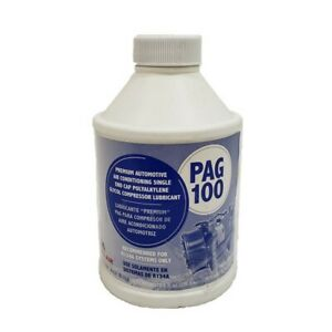Pag100 Globalair Compressor Refrigerant Oil R134a Lubricant 1 8oz Bottle