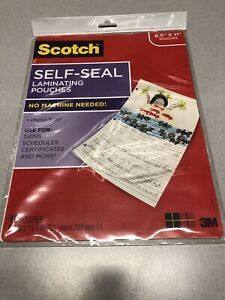 Scotch Self Sealing Laminating Pouches 10 Pouch Pack