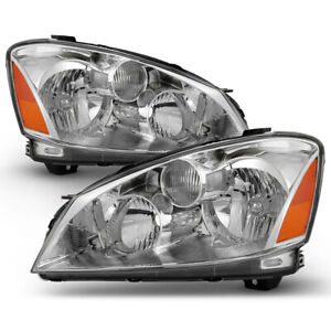 For 05 06 Nissan Altima Factory Style Headlight Lamp Direct Replacement L R Pair