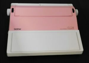 Brother Ax 12m Electronic Typewriter Pink With New Ribbon