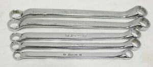 Snap On Xbm605a 10mm 19mm Metric Offset Angle Head Box end Wrench Set 5pc