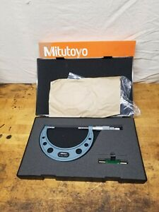Mitutoyo 3 4 Outside Diameter Blade Micrometer 122 128 With Box Excellent