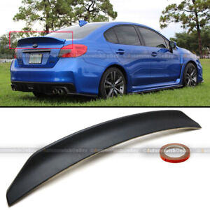 Fits 15 18 Wrx Sti 4dr Sedan Unpainted Highkick Duckbill Rear Trunk Wing Spoiler