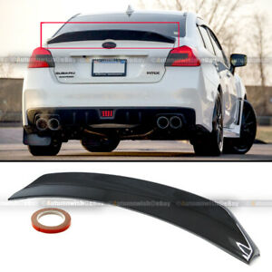 Fits 15 18 Wrx Sti Sedan Glossy Black Highkick Duckbill Rear Trunk Wing Spoiler