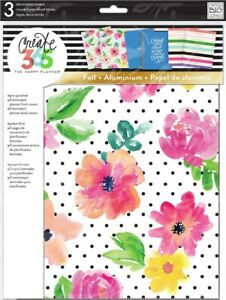 New Create 365 Mambi The Happy Planner Decorative Covers 3pk