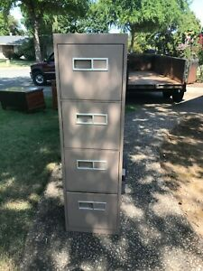 Excellent Gently Used Holga Group Metal Filing Cabinet Extra Deep 4 Drawer Nocal