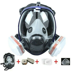 New 7 In1 Full Face For 6800 Gas Mask Facepiece Respirator Painting Spraying