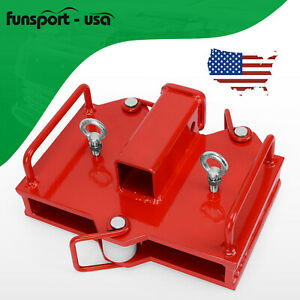 2 Dual Pallet Fork Forklift Trailer Hitch Receiver Towing Attachment Skid Steer
