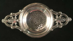 Webster Sterling Silver Twin Handled Over Cup Tea Strainer