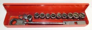 Mac Tools Front End Alignment Vrf Ratchet With Sae Metric Sockets In Case