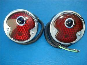 Pair Left Right 1932 Ford Blue Dot Lens Taillights Street Hot Rod The Best