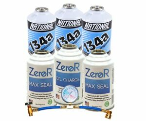 Zeror Genuine R134a_ Refrigerant_ Stop Leak Repair And Ac Recharge Kit Made