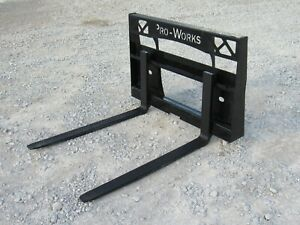 42 Compact Tractor Pallet Forks Fits Skid Steer Quick Attach 2 200 Pound Rating
