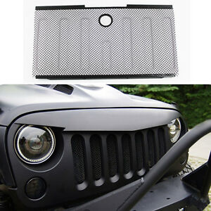 Efie Front Bumper Hood Grille Screen Mesh Grill Cover For 07 2015 Jeep Wrangler